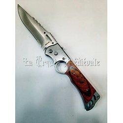 Couteau Automatique bois GM/Cran d'Arrêt