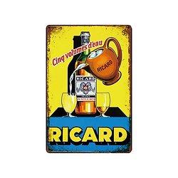 PLAQUE METAL PUB. RICARD/APERO
