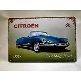 PLAQUE PUB. METAL D.S. 19 CABRIOLET/CITROËN/SIXTIES