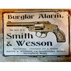 PLAQUE METAL REVOLVER SMITH ET WESSON