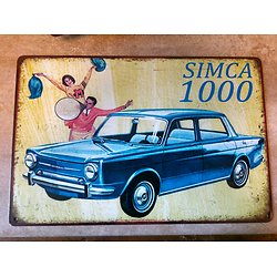 PLAQUE PUBLICITAIRE METAL SIMCA 1000