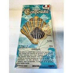 PIN'S BROCHE COQUILLE SAINT JACQUES DE COMPOSTELLE/PELERINAGE