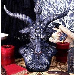 BUSTE DE BAPHOMET 33cm/TEMPLIER/OCCULTISME/ALCHIMIE/MAGIE