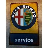 PLAQUE PUBLICITAIRE ALFA ROMEO SERVICE/GARAGE