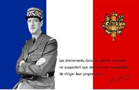 Drapeau CHARLES DE GAULLE/FRANCE LIBRE