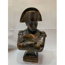 BUSTE NAPOLEON BRONZE VERITABLE 18cm/EMPIRE/BONAPARTE