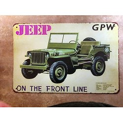 PLAQUE METAL JEEP FORD GPW 1942