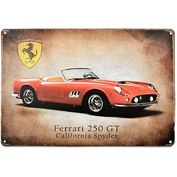 PLAQUE METAL FERRARI 250 GT CALIFORNIA SPYDER