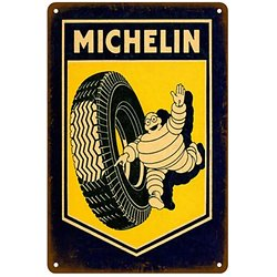 PLAQUE METAL MICHELIN/PNEUS/CLERMOND-FERRAND