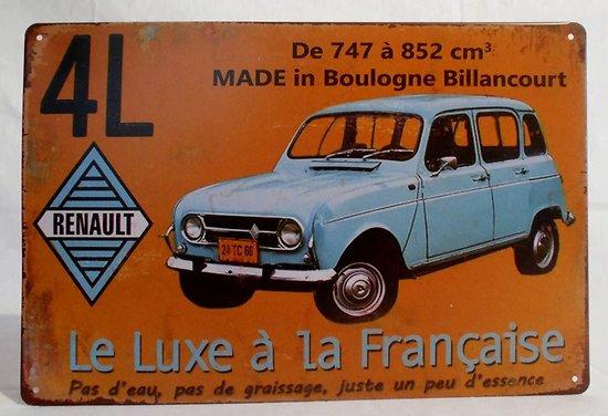 PLAQUE PUBLICITAIRE METAL 4L RENAULT/BOULOGNE BILLANCOURT (copy)