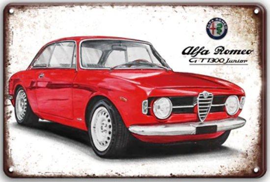 PLAQUE PUBLICITAIRE ALFA ROMEO GT1300 JUNIOR