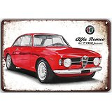 PLAQUE PUBLICITAIRE ALFA ROMEO GT1300 JUNIOR