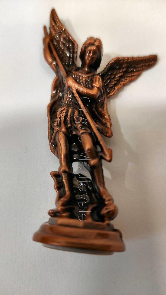 Statuette Archange Saint Michel P.M. métal 2)