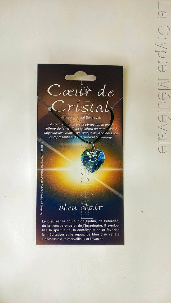 COEUR DE CRISTAL BLEU/SPIRITUALITE ETRENELLE