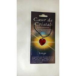 COEUR DE CRISTAL ROUGE/PUISSANCE ET AMOUR