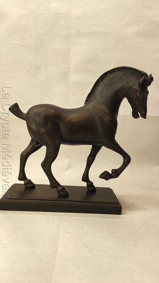 Cheval de Léonard de Vinci G.M./ STATUE/équitation/