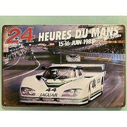PLAQUE PUBLICITAIRE METAL 24 HEURES DU MANS 1985