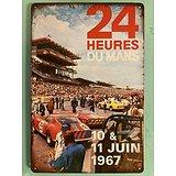 PLAQUE PUBLICITAIRE METAL 24 HEURES DU MANS 1967
