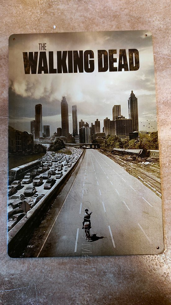 PLAQUE METAL THE WALKING DEAD/RICK GRIMES