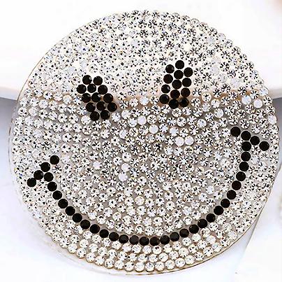 PATCH SMILEY STRASS SWAROVSKI