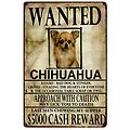 PLAQUE METAL CHIHUHUA WANTED