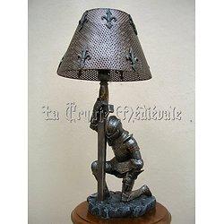 LAMPE CHEVALIER/MOYEN AGE