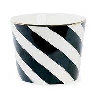 Aurore - Gobelet en céramique // Rayures diagonales noires