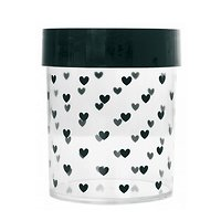Adélaïde - Pot en plastique // Cœurs noirs