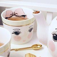 | AURORE | - Mug en céramique // Visage & nœud