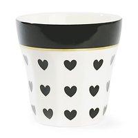 | MARIE | - Mug en céramique // Cœurs noirs