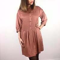 | CAMBRONNE | - Robe fluide petits nœuds // Blush