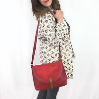 Aky large - Grand sac besace // Rouge framboise
