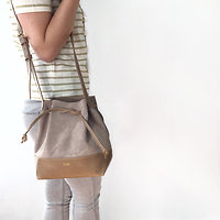 | WOODE MINI | - Petit sac seau // Sable