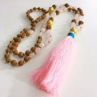 | FUERTEVENTURA | - Sautoir perles & pompon // Rose