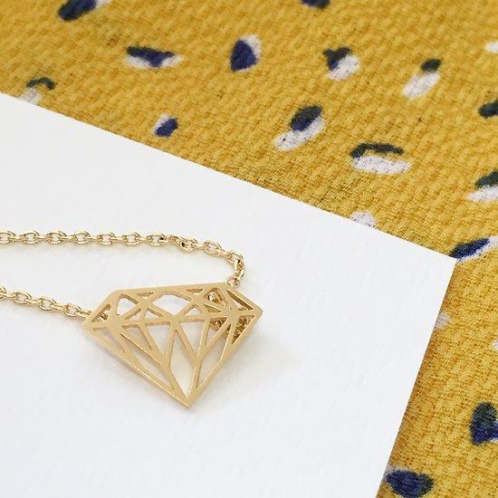| DIAMOND | - Collier fantaisie  // Doré