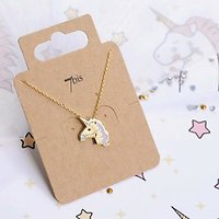 | UNICORN | - Collier fantaisie licorne // Doré