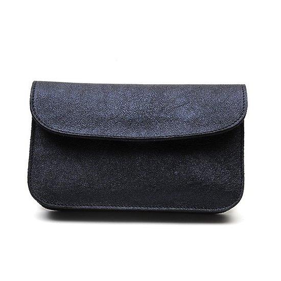 Eugénie - Compagnon en cuir // Bleu irisé
