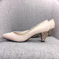 | MARIELLE | - Escarpins talon glitter // Nude