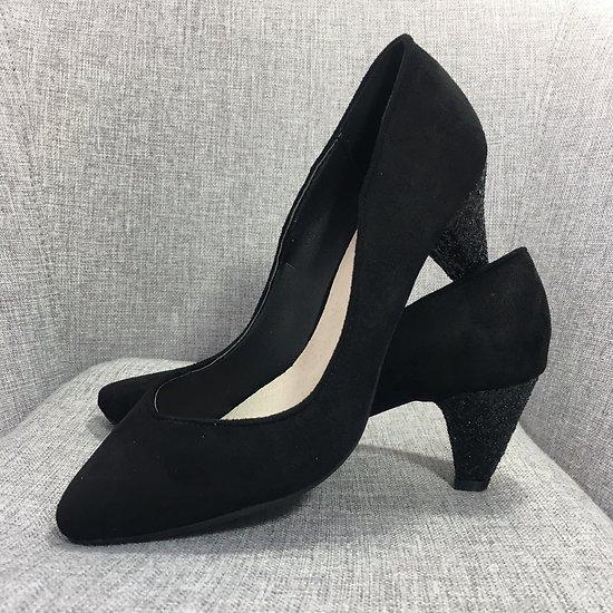   MARIELLE   - Escarpins talon glitter // Noir