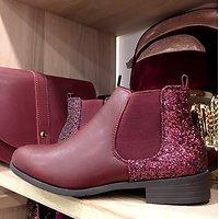 | REINE | - Chelsea boots glitter // Bordeaux