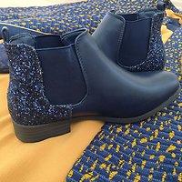 | REINE | - Chelsea boots glitter // Marine