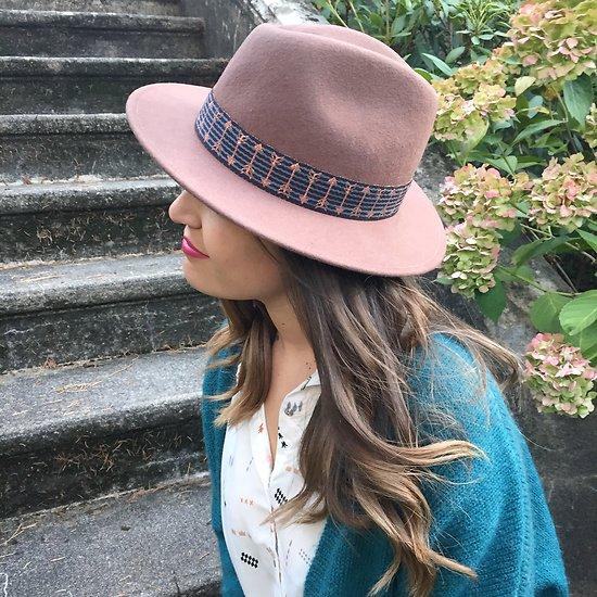   ARROW   - Chapeau laine ruban flèches // Marron