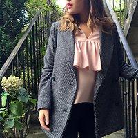 | VALLÉE | - Manteau effet drap de laine // Gris