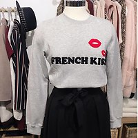 | FRENCH KISS | - Sweat tout doux // Gris chiné