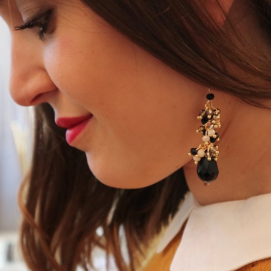 | ERICA |- Boucles d'oreilles pendantes // Noir