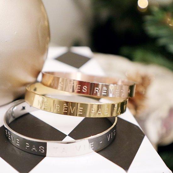   RÊVES   - Bracelet jonc ajustable // Plusieurs coloris