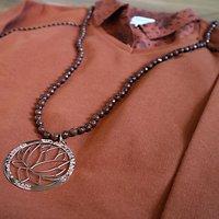 | SYLVESTRE | - Sautoir perles naturelles // Marron
