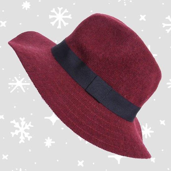 | AVORIAZ | - Chapeau avec ruban // Bordeaux