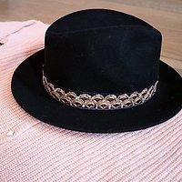 | SASHA | - Chapeau galon en laine // Ébène