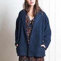 | TINE | - Manteau en laine mélangée // Bleu